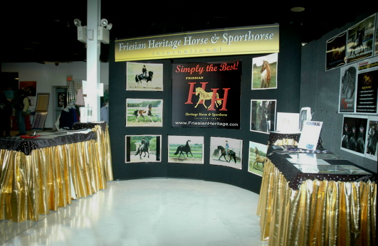 Photo of the HH booth at the IFSHA Nationals in 2009